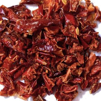 Peperone rosso disidratato